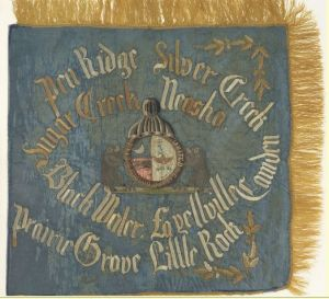 """Veterans Flag"" of the 1st Regiment Missouri Cavalry Volunteers"